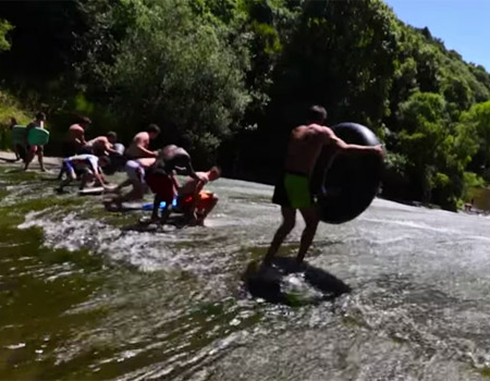 Living a Kiwi Life – Ep.22 – Rere Rockslide – Epic Waterfall Slip and Slide