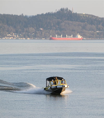 Ferryman Alan Brann Working the Waters of the Columbia River