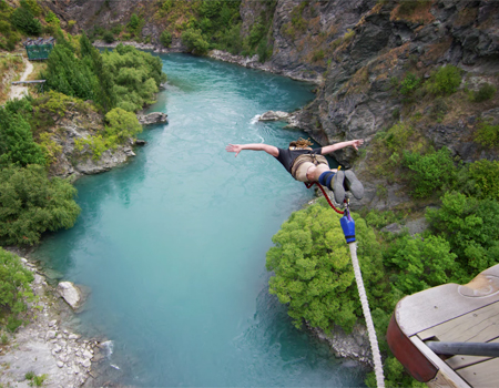 Extreme Bungy Jumping in New Zealand