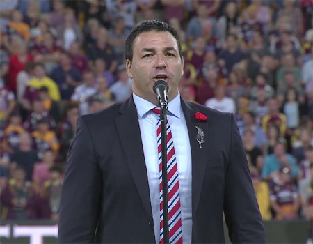 Tenor Geoffrey Knight sings the New Zealand National Anthem