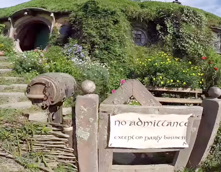 Visiting the Shire in Hobbiton