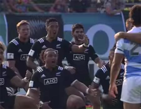 New Zealand v Argentina Haka