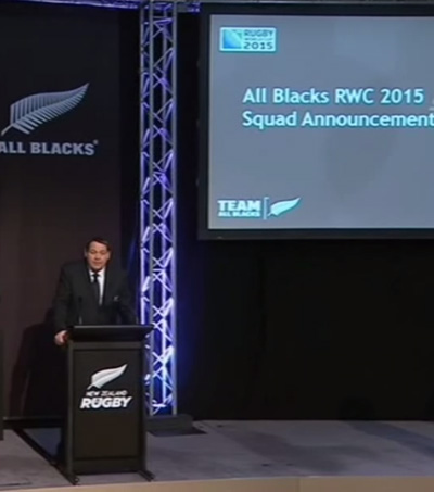 All Blacks Squad Announced