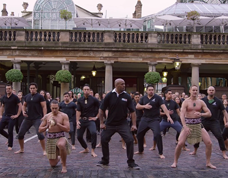 Haka Flash Mob by Jonah Lomu for Rugby World Cup 2015