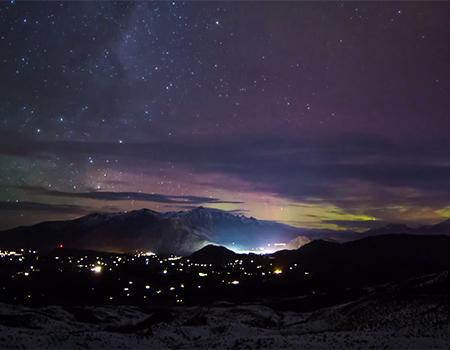 Aurora Australis over Queenstown, NZ