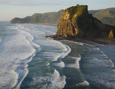 Piha Beach Auckland Timelapse