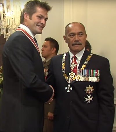 Richie McCaw Honored with Order of New Zealand