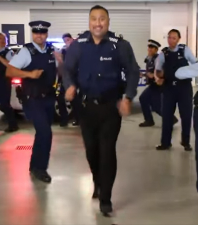 NZ Police Officers Release 'Running Man' Video