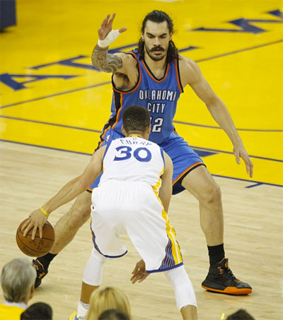 How Steven Adams Is Becoming Star of NBA Play-Offs
