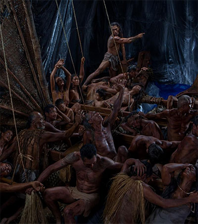 Greg Semu Restages Colonial Raft Art with Actors