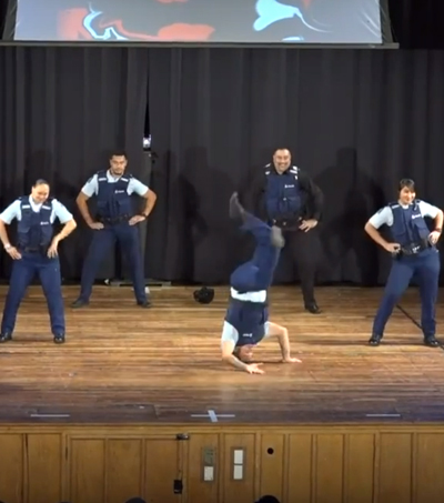 NZ Police Officers Show Off Hip Hop Moves