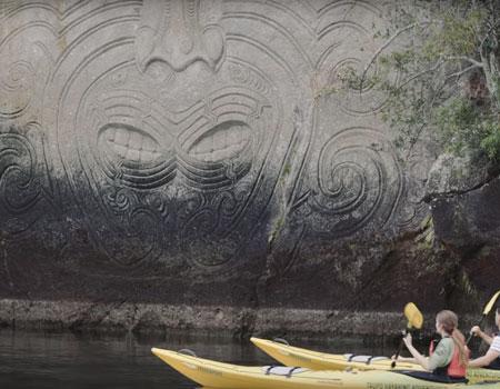 Mine Bay Māori Rock Carvings