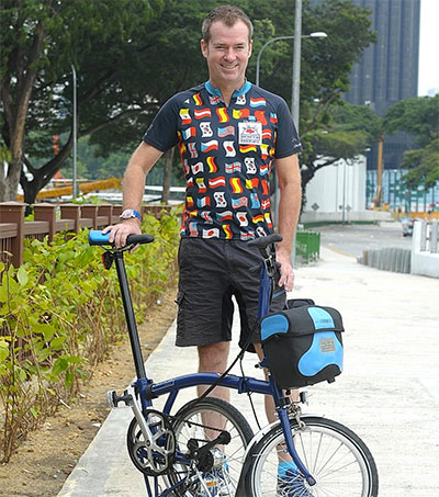 Stephen Moore Completes Singapore Bike Quest