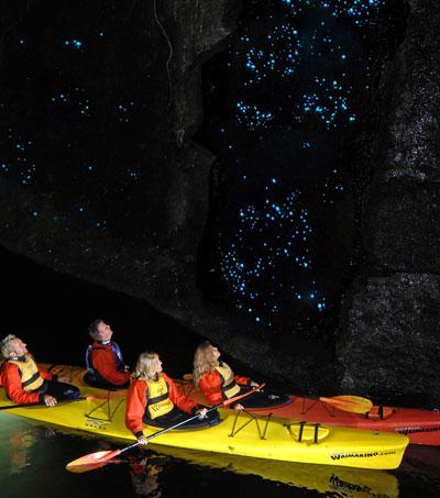 Glowworm Cave in New Zealand