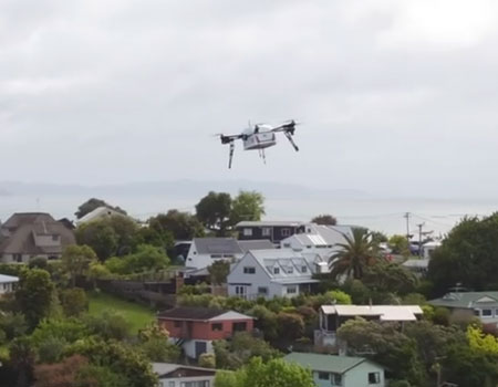 Domino's Delivers Pizza by Drone in New Zealand