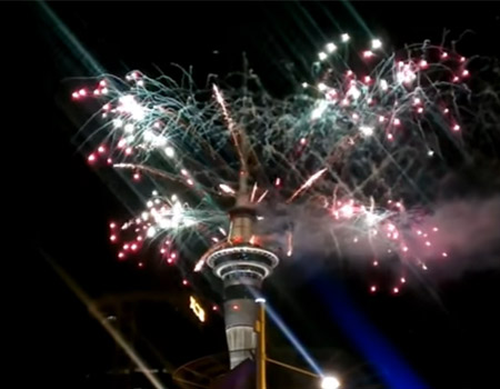 New Year's Fireworks in Auckland – 2017