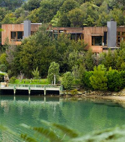 Michael Seresin's House at Waterfall Bay