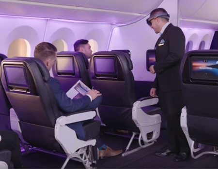 Microsoft HoloLens Inflight at Air NZ