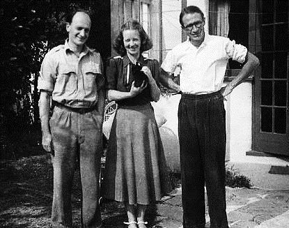 Bill Phillips, Mrs Phyllis Langley and Walter Newlyn in 1949