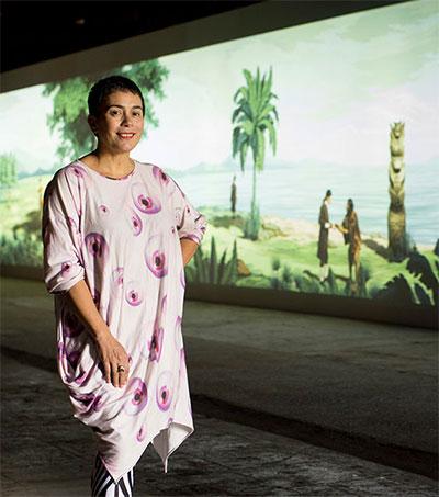 Artist Lisa Reihana Arrives in Venice in Style