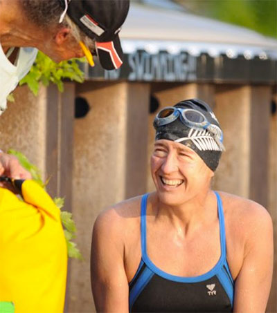Charlotte Brynn Swims from Quebec to Vermont