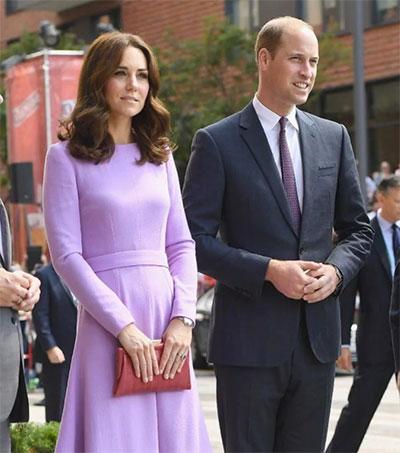 Duchess Of Cambridge Wears Wickstead on Europe Tour