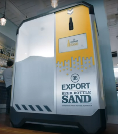 Colenso BBDO Win Gold for DB Export Beer Bottle Sand Campaign