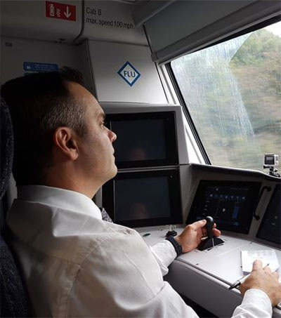 Will Paton in the Front Seat of New UK Trains