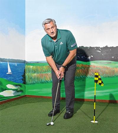 Golfer Frank Nobilo Takes a Shot