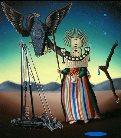 Matthew Couper Paints Vegas Iconography