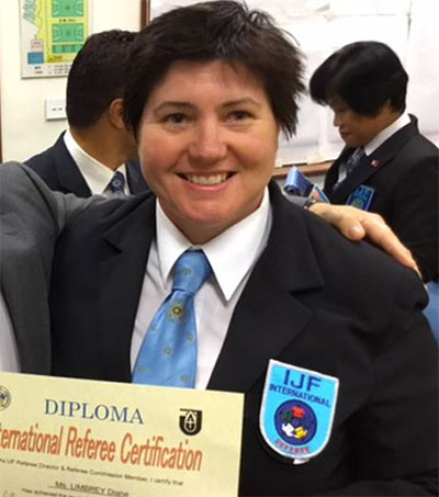 Diane Limbrey Receives Highest Judo Ref Licence