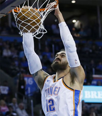 NBA Star Steven Adams Gets to Work