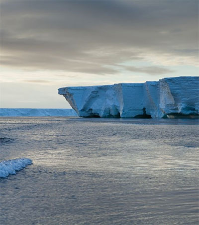 Scientists Assess Surprise Status of Ross Ice Shelf