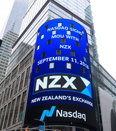 New Zealand's NZX Partners With Nasdaq
