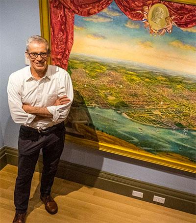 Artist Peter Waddell Paints D.C. Bird's Eye Views